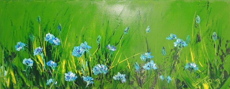 Les tableaux verts, une des pages du site présentant les peintures de Fabienne ROUX