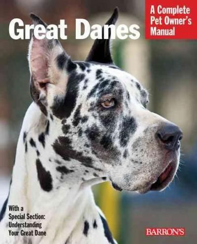 Like every very large dog, the Great Dane requires plenty of space for exercise. Typically, he has a placid personality, and is patient and sociable with kids. This book, an updated addition to Barron