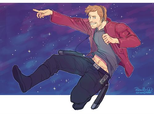 • guardians of the galaxy peter quill star lord hvit-ravn •