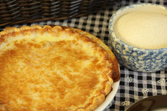 Old-Fashioned Sugar Cream Pie, just like our moms used to make. Perfect for the Darling Diner's menu.