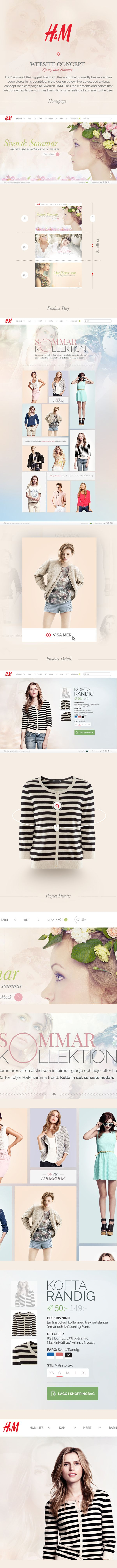 H&M Website by Hugo Albönete, via Behance