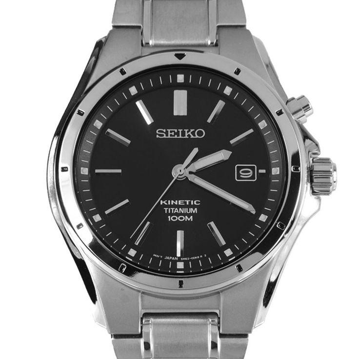 Chronograph-Divers.com - Seiko WR100m Date Calendar Kinetic Titanium Mens Watch SKA493P1, $200.00 (http://www.chronograph-divers.com/ska493p1/)