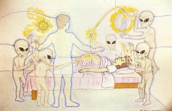 Fig. 51: A ilustração mostra um trabalho de assistência extrafísica prestado a uma gestante e ao seu bebê (projetado fora do feto).   Leia mais em: Projetores Extraterrestres  #UFO #OVNI #WagnerBorges #Espiritualidade #AssistenciaEspiritual #ViagemAstral #ProjecaoAstral #ExperienciasForadoCorpo #ProjecaoDaConsciencia  #ViagemEspiritual #EFC #OBE #OutOfBodyExperiences #AstralProjection, #ImortalidadeDaConsciencia  #VidaAposAMorte  #Sattva #DiscernimentoEspiritual #Chakras #Chacras…