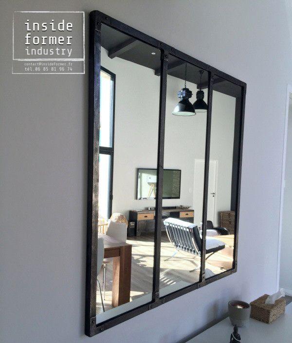 1000 id es sur le th me miroir industriel sur pinterest for Miroir industriel deco