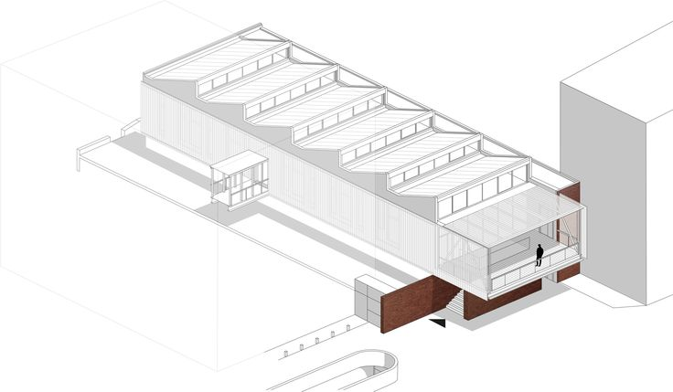 Sheddach für die digitale Bohème - Co-Working-Space von D.A Architects in Paris