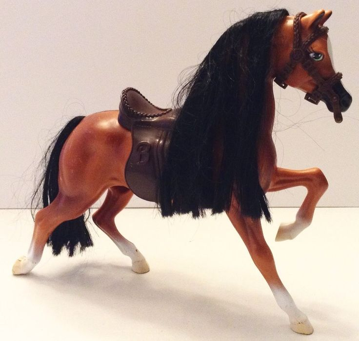 Barbie Horse Brushable Beauties Dixie Riding Saddle  #Mattel
