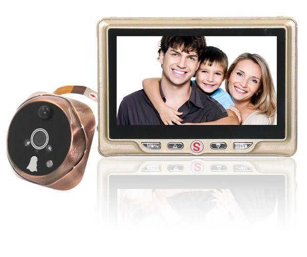 ЖК-Записываемый Цифровой Глазок Дверь просмотра с Дверной Глазок Дверной Звонок Видео Камеры Free доставка