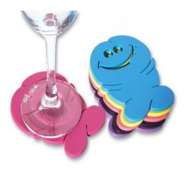 These willy coasters come in a pack of 6 and are multi-coloured.  http://www.peckaproducts.com.au/pecker-drink-coasters.html