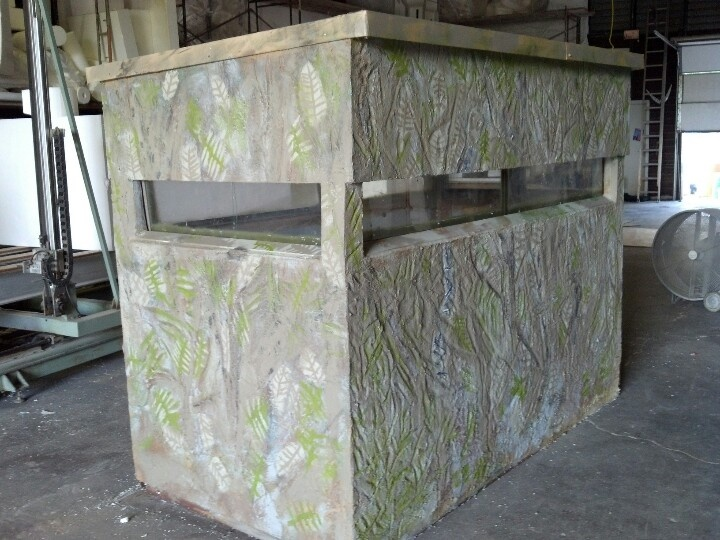 Custom Deer Blind made from hand carved EPS foam panels. Panels were base-coated and meshed ...