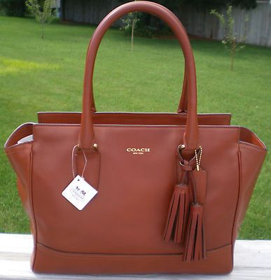 Coach Legacy Cognac Leather Candace Carryall Purse 398 00 New With Tags