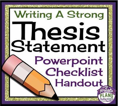 Identify thesis statement quiz