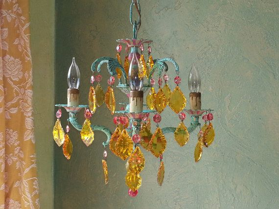 Chandelier Lighting Petite Carny by queendecor on Etsy, $550.00