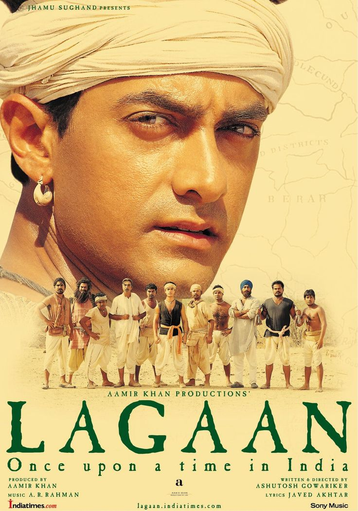Lagaan: Once Upon a Time in India (2001): The people of a small village in Victorian India stake their future on a game of cricket against their ruthless British rulers... #movie