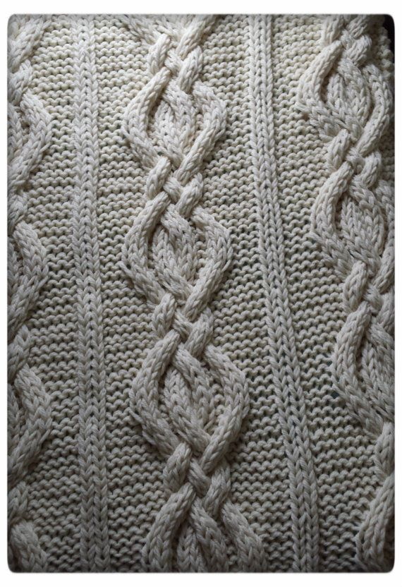 Twisted Cable Knit Blanket PATTERN от OzarksMomma на Etsy