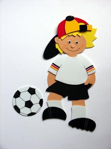 Fußballer zum Verzieren einer Schultüte von Bines Wollfantasien auf DaWanda.com