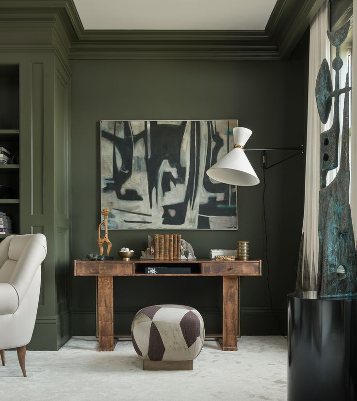 THESE ARE THE COLOR TRENDS EVERYONE WILL BE TALKING ABOUT THIS SPRING Dark Green WallsOlive