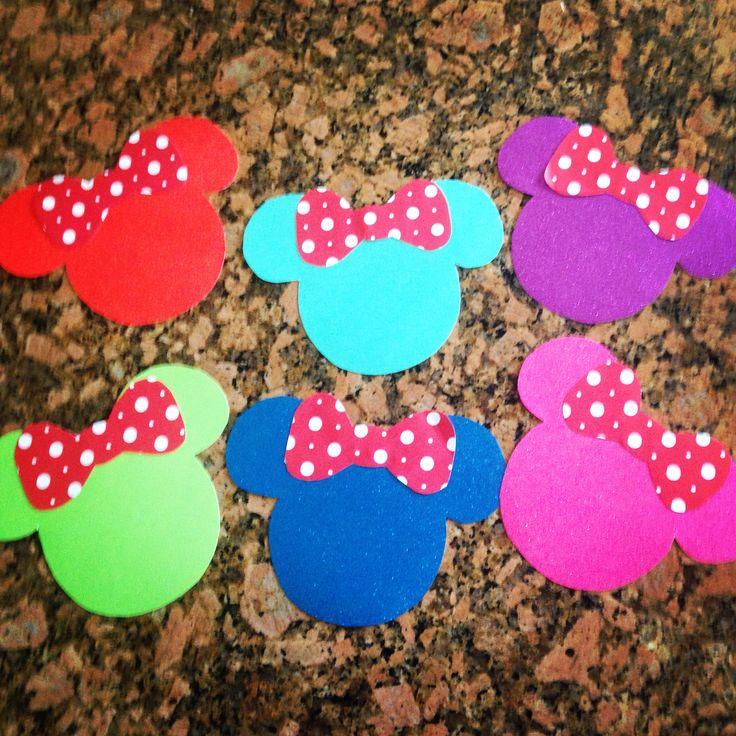 Disney Door Decs! Made with glitter card stock and polka dot scrapbook paper…