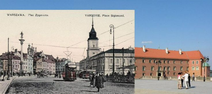 Warsaw - Second World War vs. Now