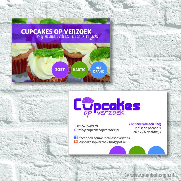 Visitekaartjes Cupcakes op verzoek #visitekaartje #cupcakes #suededesign
