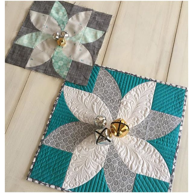 """Used Mini QCR and created this cute little """"Fun Poinsettia"""" by Jenny of Sew Kind of Wonderful"""