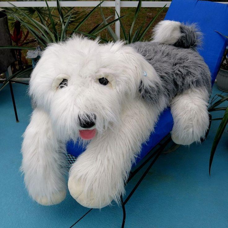 huge plush sheepdog 60 inch stuffed old english sheep dog life size lifesizeplush hugeplush. Black Bedroom Furniture Sets. Home Design Ideas