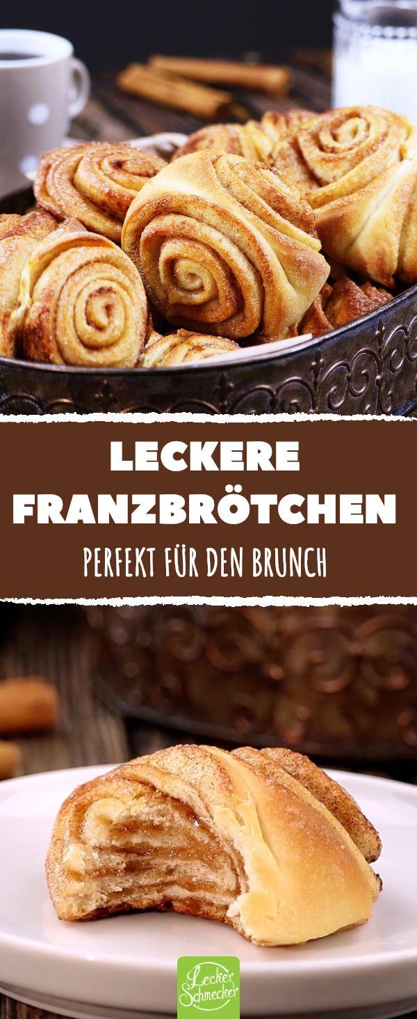 Leckere Franzbrötchen. Perfekt für den Brunch. # franzbrötchen #zimt #rezept # …