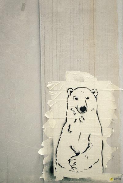 Polar Bear Street Art #art #StreetArt