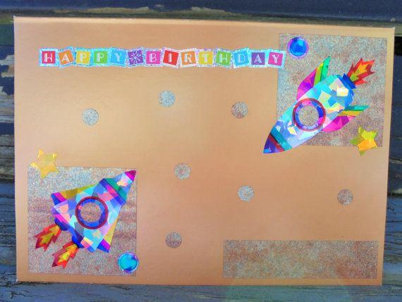 Rainbow Rockets  handmade card FWB birthday by RogueKissedCraft