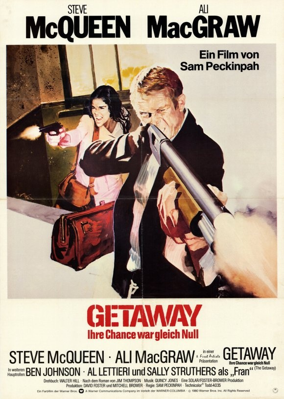 The Getaway 1972. The Original. Steve McQueen, Ali McGraw, Ben Johnson. Sam Peckinpah directs.
