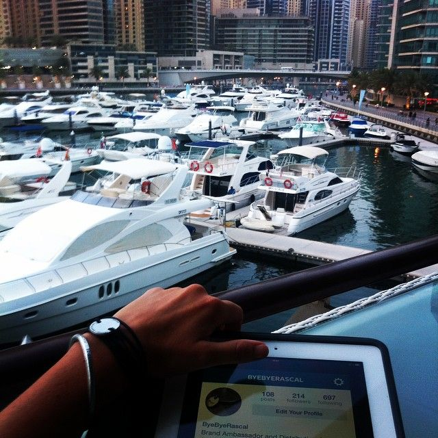 I would leave NYC for Dubai right now, just look at this view of the Dubai Marina! Be sure to follow Kelly and more of her adventures on instagram @byebyerascal