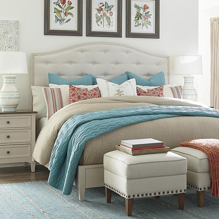 Commonwealth Upholstered Bed By Bassett Furniture Features Pared Down  Styling, Modest Scale, And Fresh