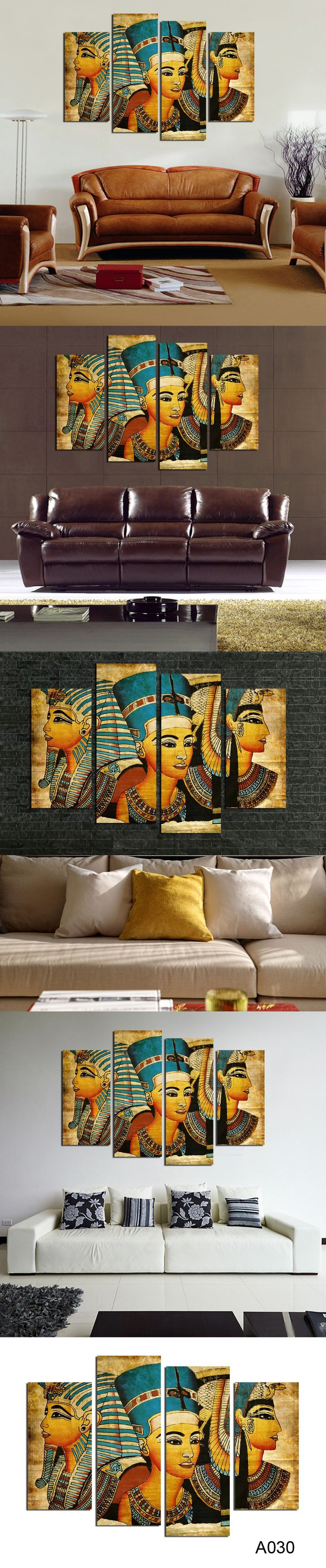 Large wall art canvas Pharaoh Of Egyptian Home Decoration Paintings Modern Abstract Wall Painting wall picture for living room $36.8