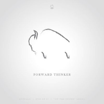 Forward Thinker - The Buffalo Art Print by Think North