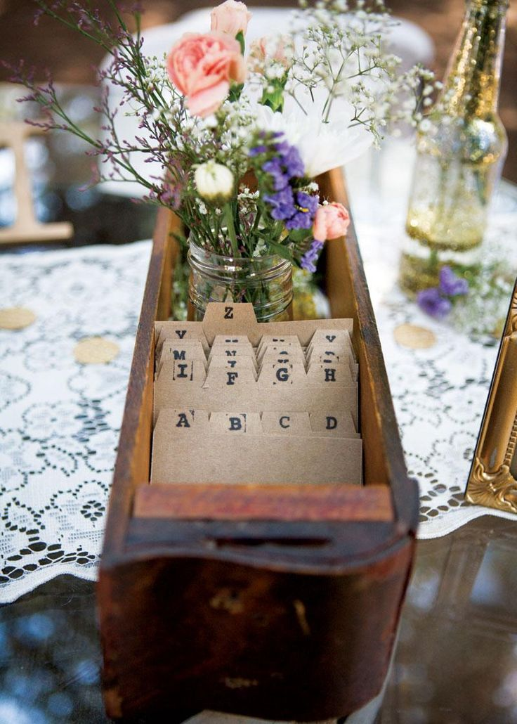 Adorable vintage drawer guestbook! Photo by Art by Kriea. #wedding #guestbook #vintage