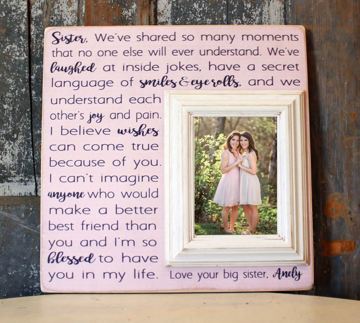 ... Gift, Personalize Picture Frame, Best Friend Gift, Bridal Shower Gift