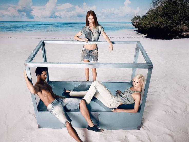 Denuncia Jeans Brazil 2015 Summer Ad Campaign #SouthernHemisphere #Brasil #moda #DenunciaDreamTrio #Summer15 #DenunciaLovers #fashion #SS15 #CintiaDicker #AnaClaudiaMichels #DiegoMiguel