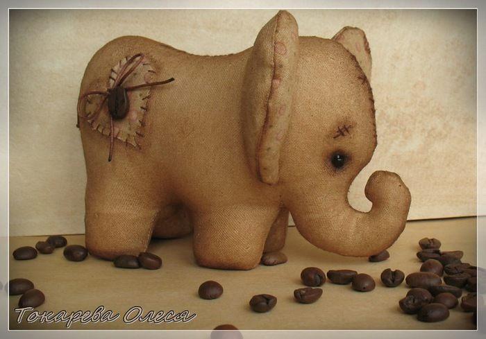 Симпатичный  кофейный  слоник. Обсуждение на Блоги на Труде