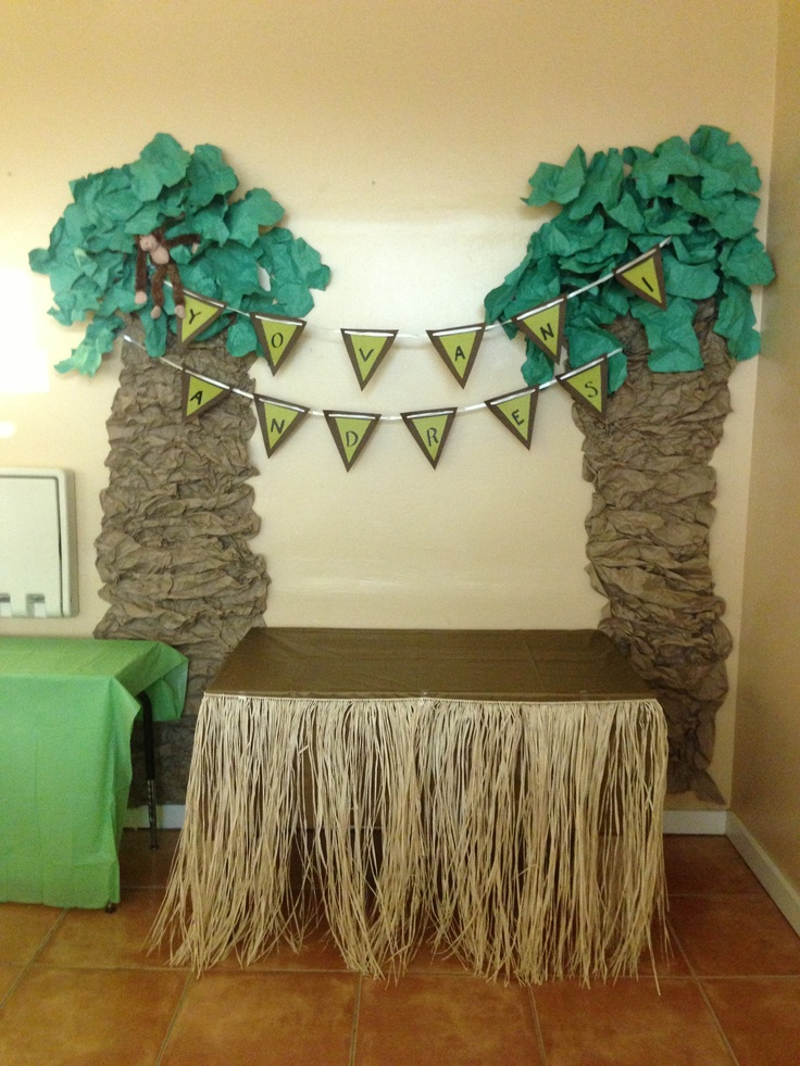 Money/jungle themed baby shower for a baby boy