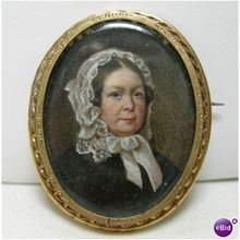 Just updated Victorian Pin Brooch French miniature painted on porcelain authentic $189.00