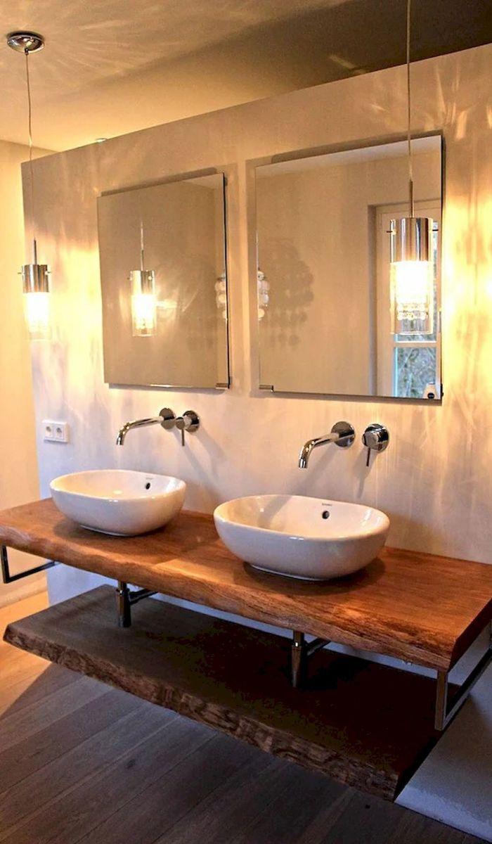 Meuble De Salle De Bain Allemand 50 best farmhouse bathroom vanity remodel ideas (39) | idée