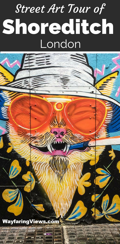 Explore edgy, political and colorful street art with this Shoreditch London street art tour. Brick Lane Murals | Graffiti | East End #england #streetart #london #travel
