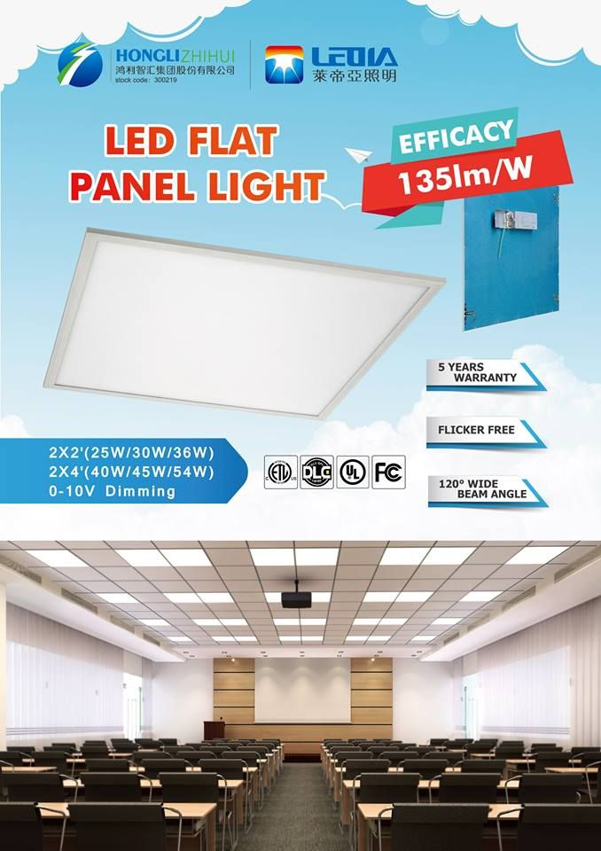 G series 135lm/w flat panel light-------DLC/UL listed