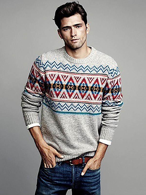 Men's Winter Style Inspiration - Patterned color for the winter ...