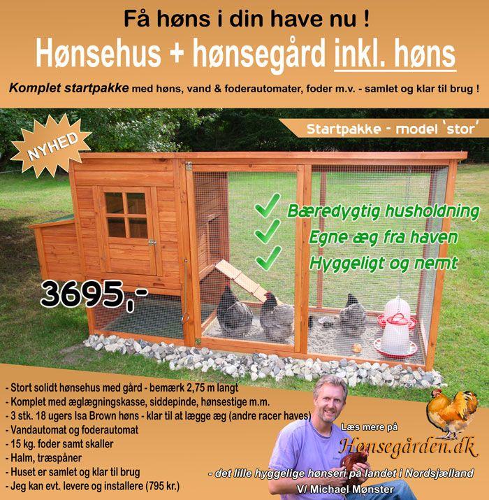 Hønsehus - startpakke model 'stor'