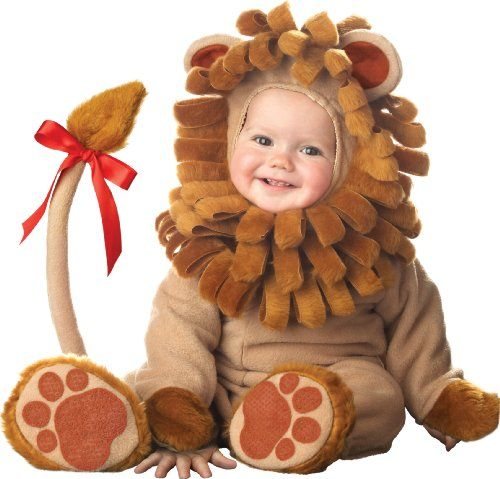 Lil Characters Unisex-baby Infant Lion Costume, Brown, 6-12 Months