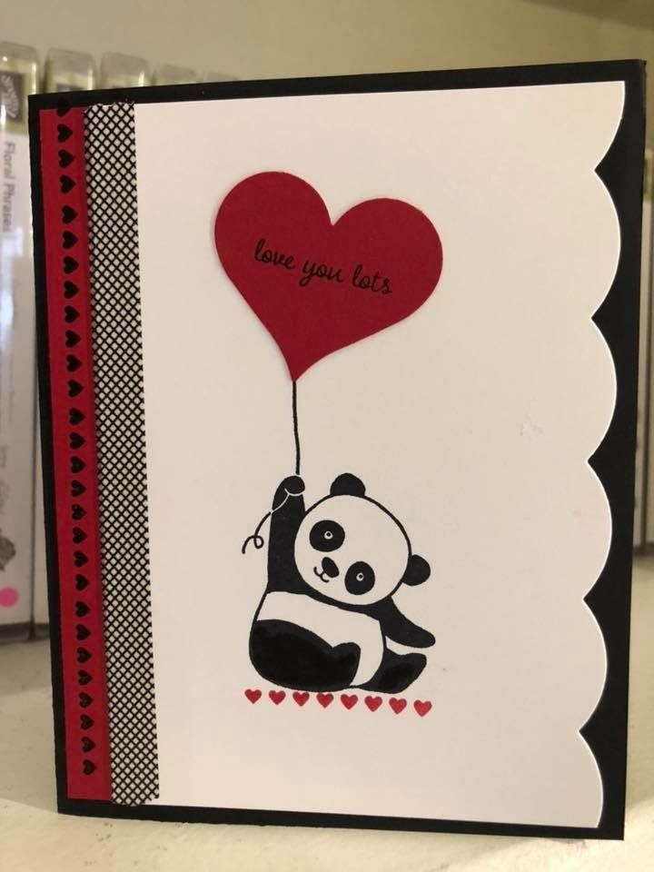 Pin By Juleen Henderson On Stampin Up Party Pandas Valentines Cards Valentine Card Crafts Birthday Cards Diy