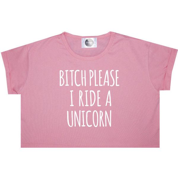 I Ride a Unicorn Crop Top T Shirt Tee Womens Girl Funny Fun Tumblr... ($14) ❤ liked on Polyvore featuring tops, t-shirts, crop top, shirts, tees, black, sweater vests, sweaters, women's clothing and goth t shirts