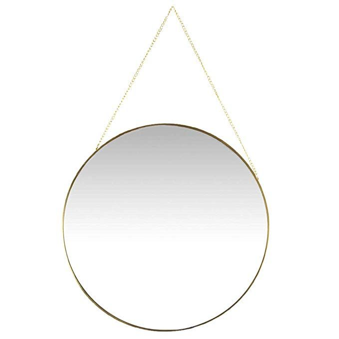 Koyal Wholesale Wall Mirror With Detachable Hanging Chain Table Mirror For Centerpiece Round Vanity Mirror Gold 12 Inch Round Review Mirror Centerpiece Mirror Mirror Hangers