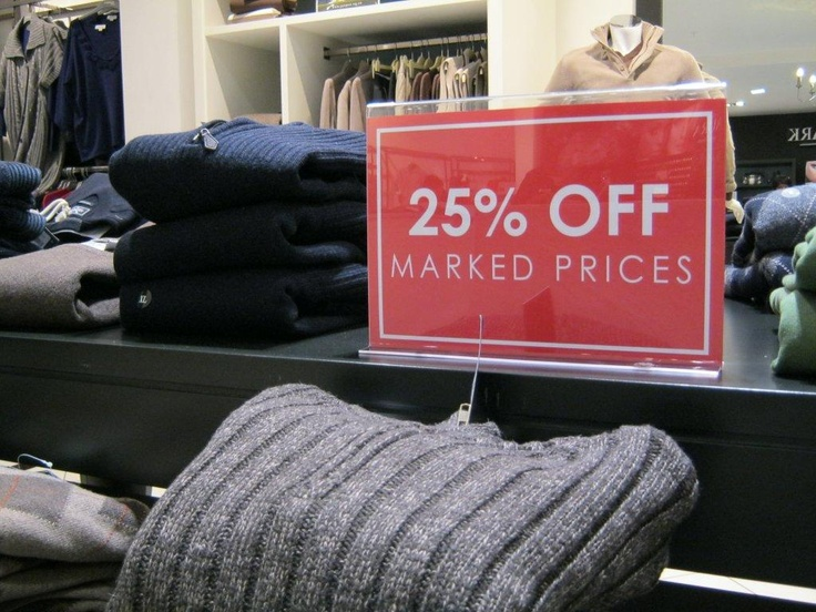 25% off all mens knitwear. Perfect for a Father's Day saver - from Queenspark.
