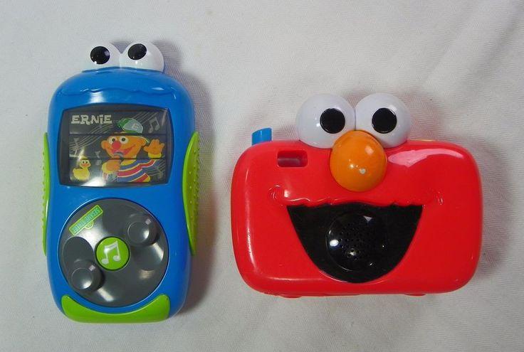 Sesame Street Cookie Monster Pretend Mp3 Player & Elmo Sing & Giggle Camera #Mattel